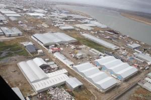 Iniciaron la construcción del pluvial sobre Saavedra Lamas en el Parque Industrial