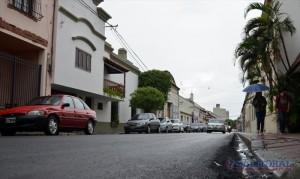 Repavimentación: inició la etapa final de recuperación vial en el centro comercial y financiero