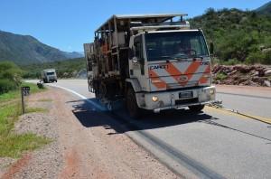 Vialidad Nacional La Rioja señaliza la Ruta Nacional 75