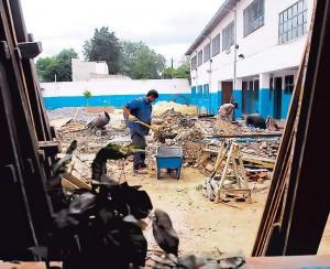 Comienza la construcción de la escuela de Roldán