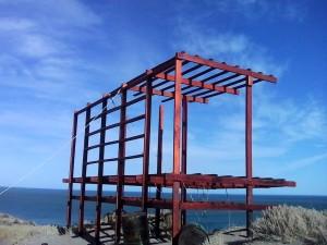 Avanza la construcción de miradores en el Área Natural Protegida Lobería-Punta Bermeja