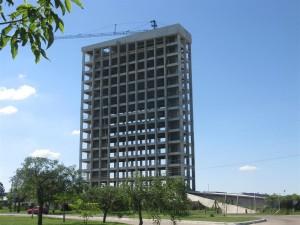 La megaobra del hotel UNL-ATE ya tiene un 50 % de avance