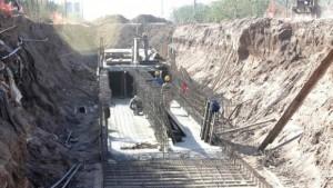 Lento avance de las obras para prevenir inundaciones en Saavedra