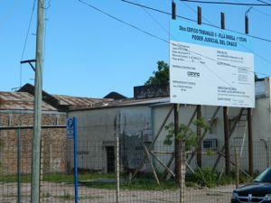 Comenzó la construcción del nuevo edificio de tribunales en la Villa