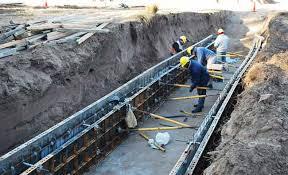 Reinicio desagües Travesía Urbana de Eduardo Castex