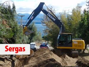 Villa Lago Gutiérrez obra de gas