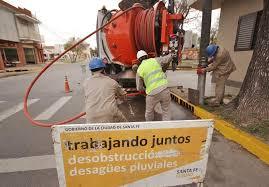 Mantenimiento de desagües y canales en Santa Fe