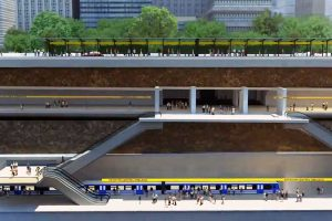 Transporte público Estación Central bajo el Obelisco U$S 1.800 Millones