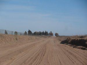 12.38 Km de caminos rurales en Rawson