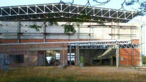 Concordia terminaran el gimnasio del polideportivo