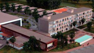 Obra hotel Ansenuza en Miramar: Desierta