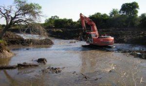 Obras por cauce del arroyo Barrancas