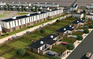 Construcción de viviendas en el barrio La Loma de Puerto Madryn, $ 9 Millones
