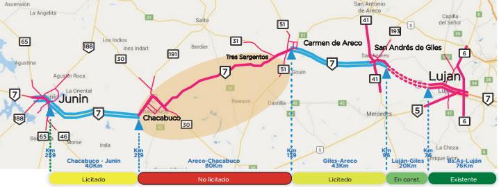 La obra de la Autopista RN 7 Chacabuco - Areco, cerca de iniciar ...