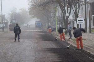 Edmacar S.A. inició la repavimentación de 20 cuadras en la ciudad de Pellegrini $7 Millones