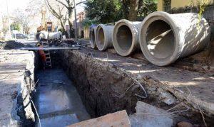 Nieto SRL comenzó la obra de desagües pluviales en la cuenca de Rómulo Noya $15 Millones