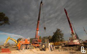Avanza la obra del puente Lacarra del lado de Lanús