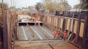 Angel Boscarino Construcciones S.A. avanza a buen ritmo la obra del desagüe Espora