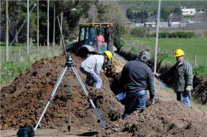 Usicom comenzó las obras de la red cloacal en Cerro Leones en Tandil $ 7 Millones