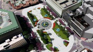 Ampliarán la superficie de Plaza de Mayo con la reducción de cuatro carriles