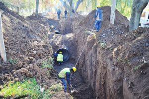 Cipolletti trabaja para optimizar el sistema de desagüe