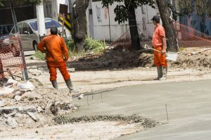 Azul obra de pavimentación y obra de gas $ 18 Millones