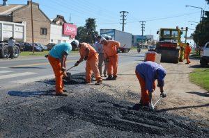 Obras en calles de la ciudad de Tandil