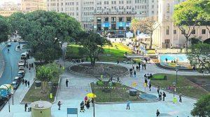 Empezaron las obras para construir un polo gastronómico y cultural en la Plaza Houssay