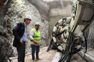 Se puso en marcha la tuneladora que construye un colector cloacal del sistema Matanza-Riachuelo