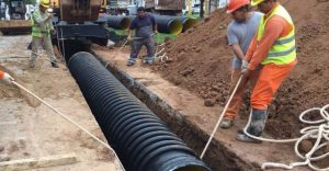Aguas Santafesinas renueva cañerías en San Lorenzo para evitar nuevos hundimientos