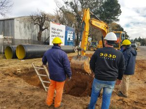El municipio de Firmat puso en marcha su Plan Integral de Desagües Hídricos empleando Tuberías Krah $ 88 Millones
