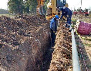Juan Claudio Amand de Mendieta ejecuta la obra de extensión de la red de agua en Gardey