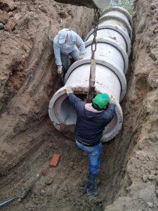 Construcción de un pluvial reparación de calzada y bacheo para barrios de Comodoro $7 Millones