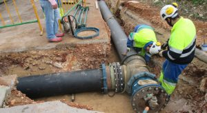 Rio Gallegos construcción de red de agua potable en Barrio 250 viviendas