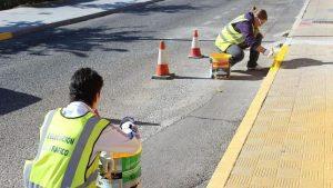 Ushuaia señalización y pintura de espacios públicos $3 Millones