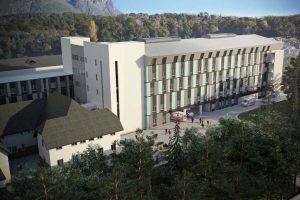 En una losa está la falla de la ampliación del hospital de Bariloche