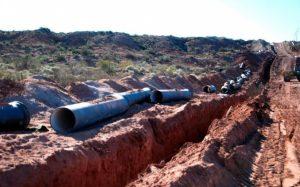 Por la crisis se frenó la obra del acueducto del Río Colorado