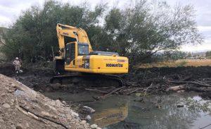 Vialtec S.A avanza en la obra de desagües pluviales en Esquel