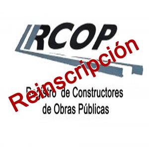 Reinscripción al Registro Nacional de Constructores de Obras Públicas