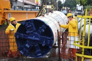 Arroyo Morón: con la llegada de una tuneladora, arrancó una obra clave para sanear el Reconquista