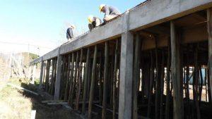 Solana SRL avanzan los trabajos en el Natatorio Municipal de Quequén