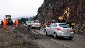 PARAMASSI efectuara reparaciones sobre el talud en la Ruta 40