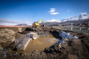 Continúan obras de alcantarillado en Ushuaia
