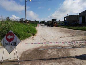 Sigue la obra en calles Miguel David y Gobernador Parera en Paraná