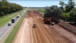 La obra de la autopista de la Ruta 5 está parada