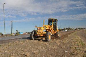 La autovía entre Trelew y Puerto Madryn sobre la Ruta Nacional 3 Otra vez abandonada