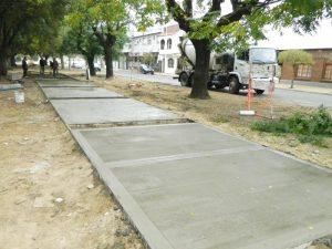 veredas en el barrio Parque La Movediza de Tandil