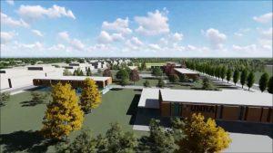 La construcción del campus de la Universidad Nacional de Rafaela avanza a paso firme