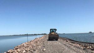 Avanzan las obras de recuperación del pedraplén ferroviario en La Picasa