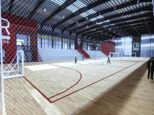 Comodoro: El gimnasio del Club Huracán va tomando forma